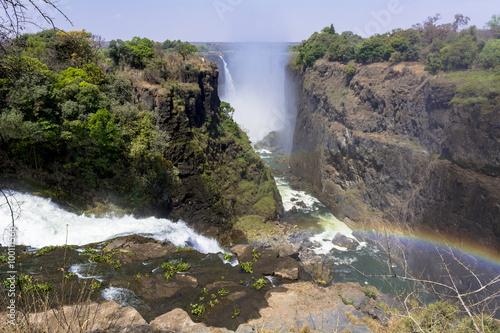 Staande foto Afrika 世界三大瀑布・ビクトリアの滝