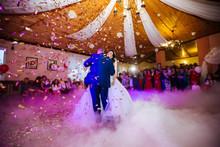 Brides Wedding Party In The El...