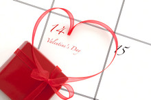 Valentines Day Concept With Ca...