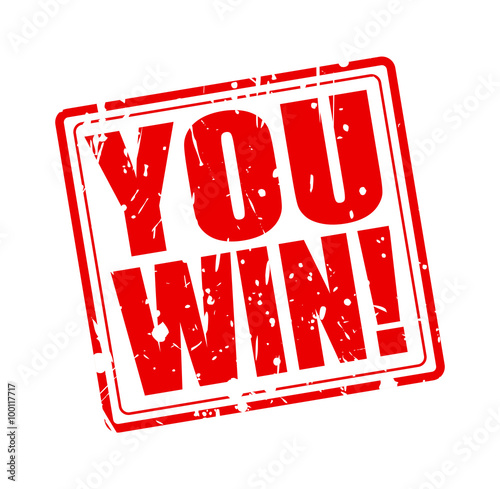 You win red stamp text Poster
