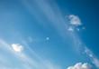 field against a blue sky blur