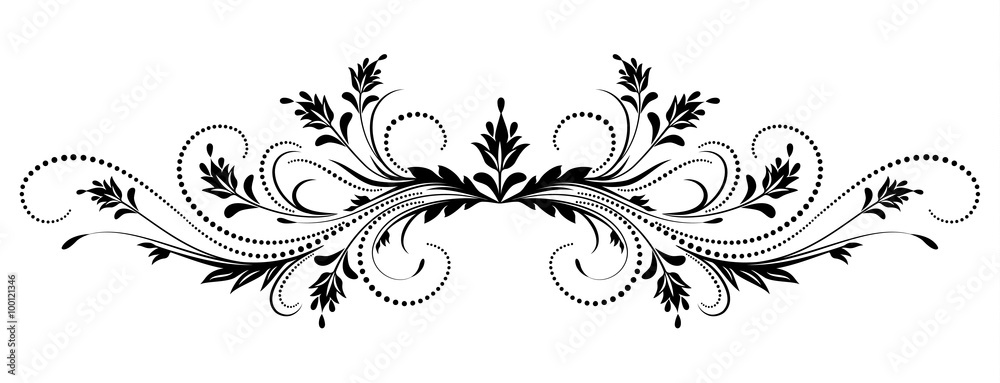 Fototapety, obrazy: Decorative floral ornament