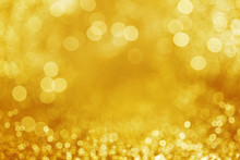 Gold Glitter Defocused Background.
