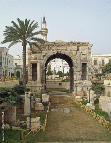Libye, arc de Marc Aurèle à Tripoli