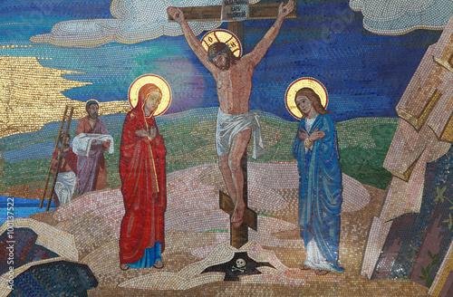 Religion. Mosaic of Saints. Orthodox church in Kirowograd Ukraine Canvas