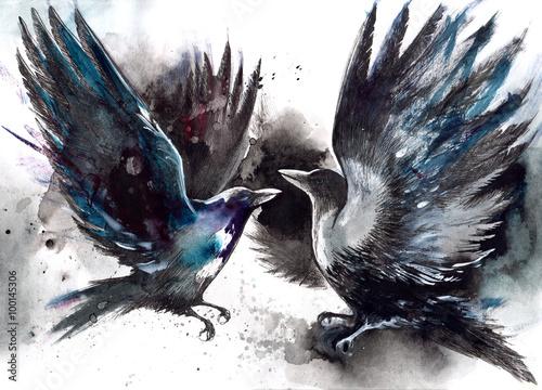 Slika na platnu crows
