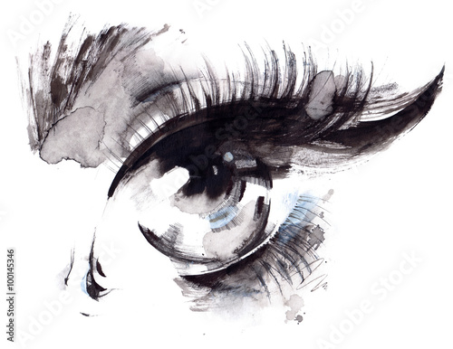 Photo sur Aluminium Peintures eye