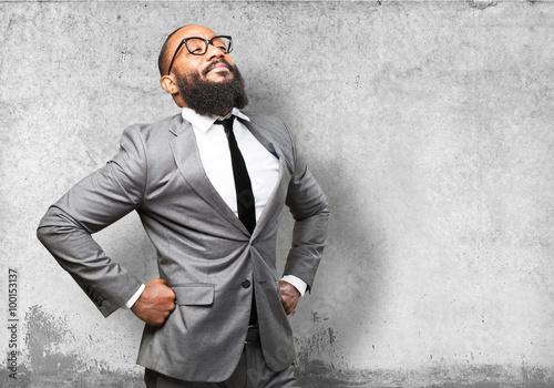 business black man proud Slika na platnu