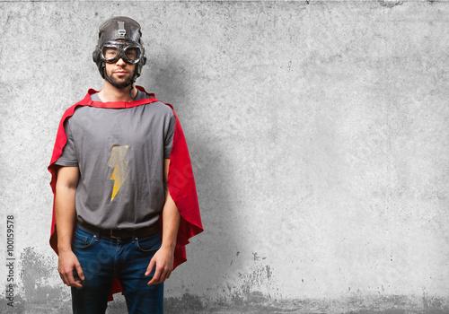 Fotografía  super hero man on white background