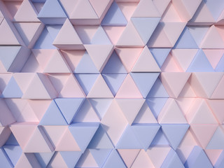 FototapetaSerenity Blue and Rose Quartz  abstract 3d triangle background