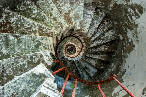 Spiral staircase on a old Lighthouse