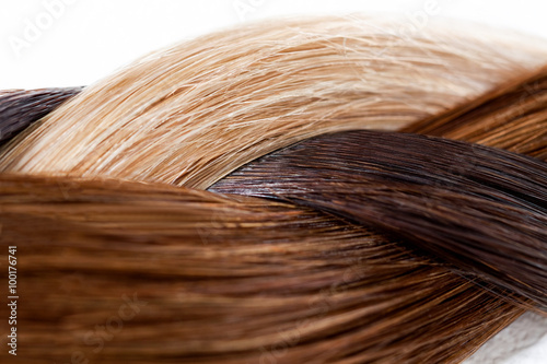 Fotografering  Braid of Various Hair Colors