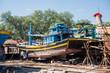 Fischerboote in Phan Thiet in Vietnam