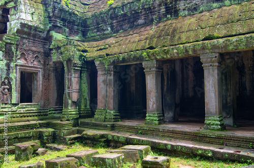 Deurstickers Rudnes Ta Prohm Temple in Angkor, Siem Reap, Cambodia.