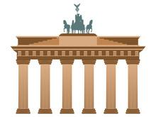 Brandenburg Gate In Berlin. Isolated On White Background.