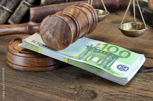 Photo  Concept For Law, Corruption, Bankruptcy, Bail, Bribe, Crime Or F
