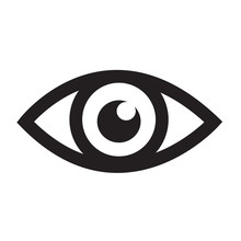 Eye Icon Illustration Sign Des...