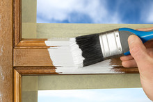 Paint Coating Of A Window With...