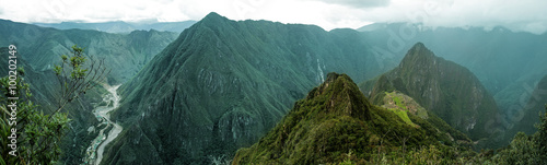 Photo Stands South America Country Machu Picchu panoramic
