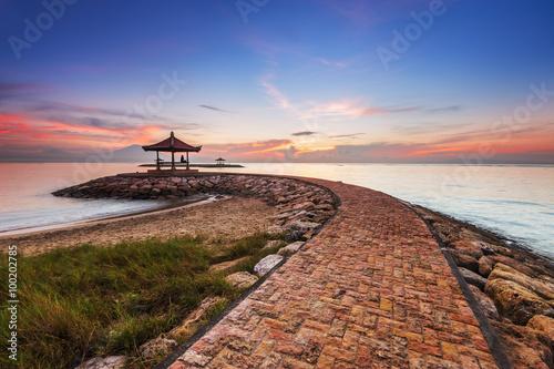 Papiers peints Bali Karang beach Sanur, Bali, Indonesia in the morning