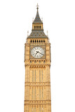 Fototapeta Big Ben - Big ben isolated on white, clipping path included