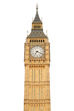 Big Ben Isolated On White, Cli...