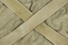Weathered Faded Military Army  Khaki Camouflage With Belt. Backg