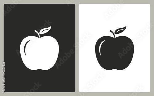 Fototapeta Apple - vector icon. obraz