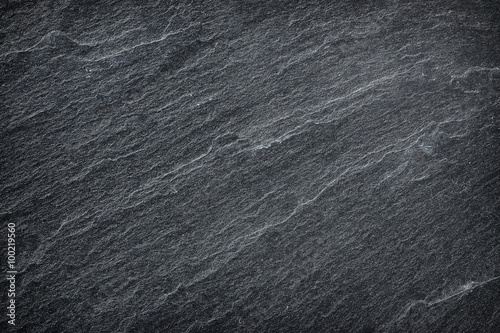 Poster Stenen Dark grey / black slate background or texture.