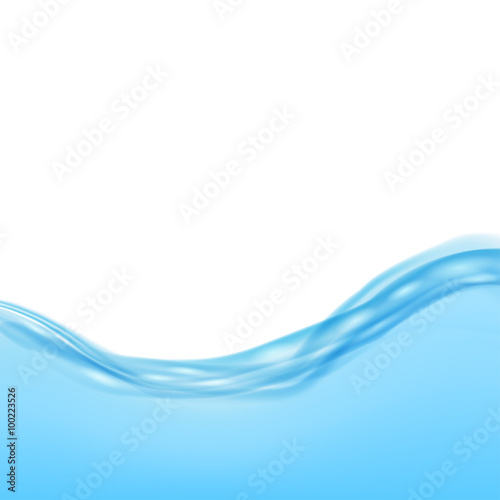 Keuken foto achterwand Fractal waves Background with blue waves of water