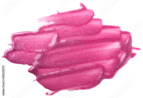 Valokuva Lip gloss sample isolated on white
