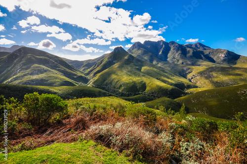 Poster de jardin Afrique du Sud Blick auf den Montagu Pass; George; Südafrika