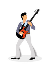 Musician With A Guitar On A Wh...