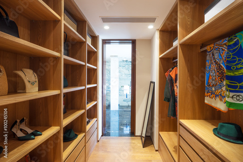 interior of modern wardrobe Fototapeta