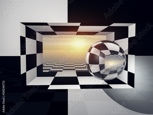 Checkered Entrance Horizon - 100246753