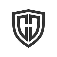 Shield Basic Outline Initial H