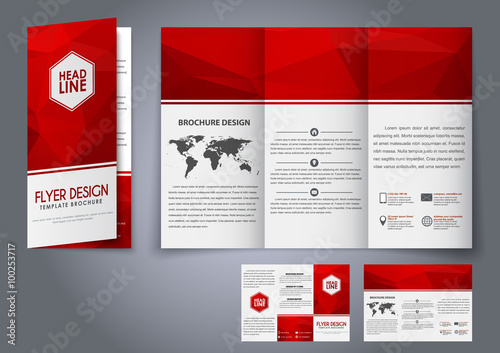 template design three fold flyer brochure adobe stock でこの