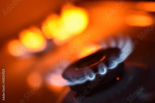 Fotografie, Obraz  Red plamene na kamna