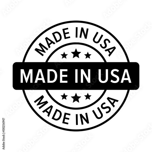 Photographie  Made in the USA badge, label, seal, sign flat icon for goods and products