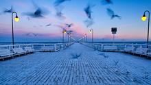 Piers Baltic Sea Poland Sopot