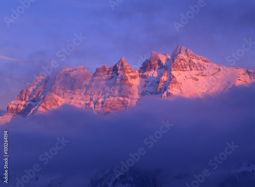 Photo alpenglow