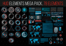 HUD Elements Mega Pack. 78 Ele...