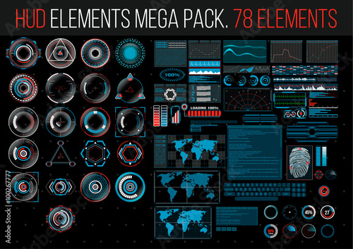 Fotografía  HUD Elements Mega Pack