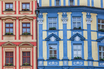 Fototapeta Kolorowe domki Colorful architecture of Prague.