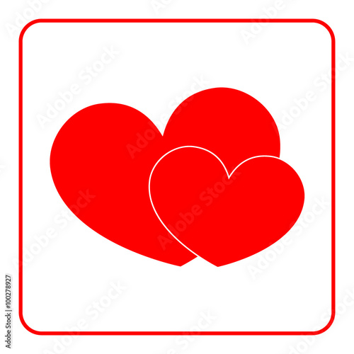 Heart Icon Red Signs Isolated On White Background Symbol Of Love