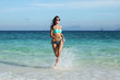 Woman run on beach