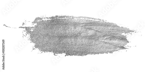 Fotografía  Silver stain isolated on white background.