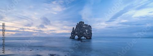 Foto auf Gartenposter Reflexion rock elephant in Iceland