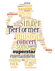 FototapetaSinger performer, word cloud concept 4