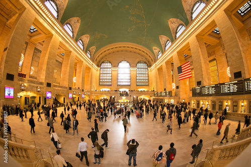 Grand Central interior in Manhattan, New York City. Tablou Canvas